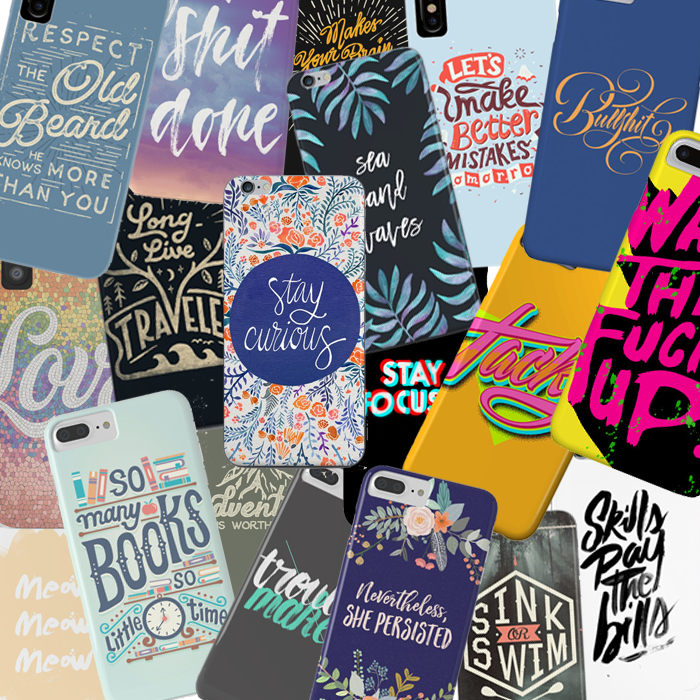 Designer Phone Cases – Lettering Designs by Typography Artists