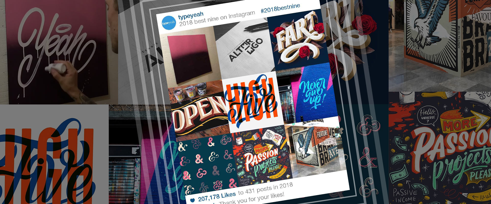 Typeyeah 2018 Instagram Best Nine
